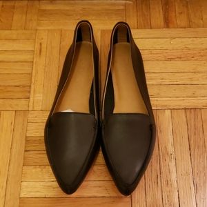 NEW J.Crew black leather loafers, size 6.5